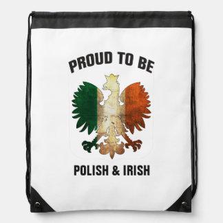 Proud to be Polish and Irish Drawstring Bag