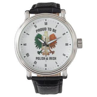 Proud to be Polish and Irish Wristwatch