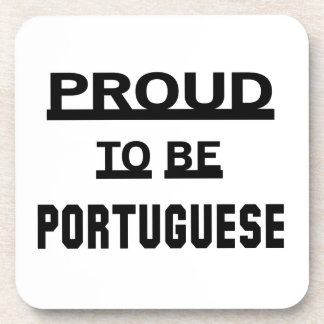 Proud to be Portuguese Beverage Coaster