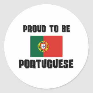 Proud To Be PORTUGUESE Round Stickers