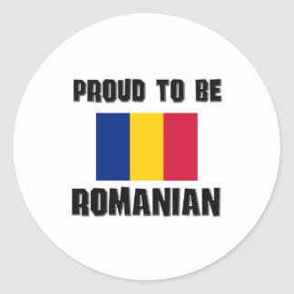 Proud To Be ROMANIAN Classic Round Sticker