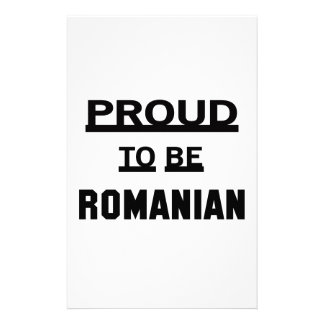 Proud to be Romanian Stationery