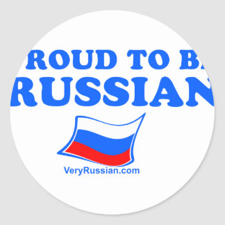 PROUD to be Russian Classic Round Sticker