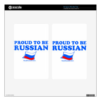PROUD to be Russian Skin For Kindle Fire