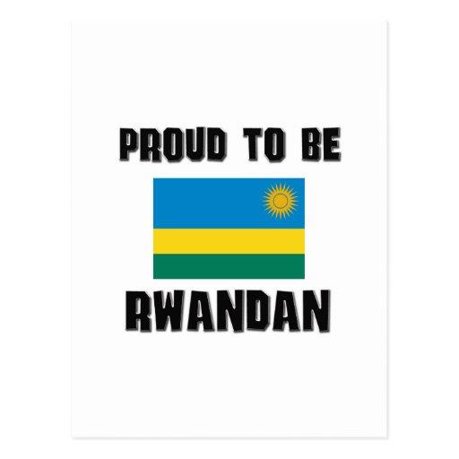 Proud To Be RWANDAN Postcard