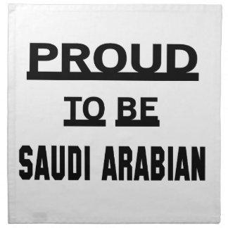 Proud to be Saudi Arabian Napkin