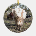 Proud to be Scottish Double-Sided Ceramic Round Christmas Ornament