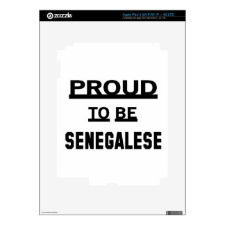 Proud to be Senegalese Decal For iPad 3
