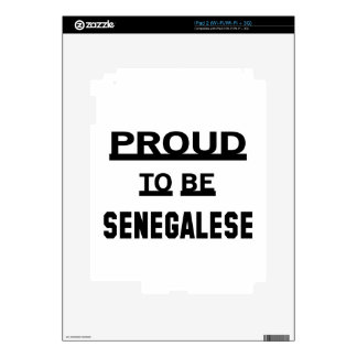 Proud to be Senegalese Skin For iPad 2