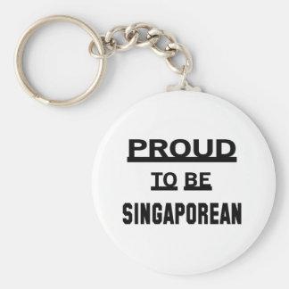 Proud to be Singaporean Basic Round Button Keychain