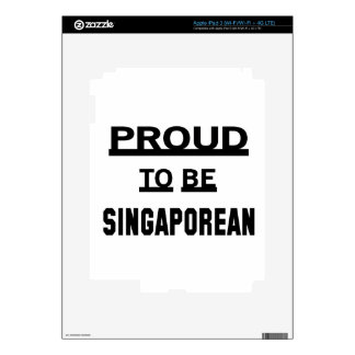 Proud to be Singaporean Skins For iPad 3