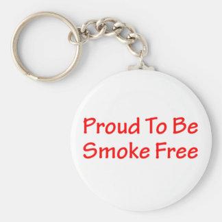 Proud to be smoke free keychain