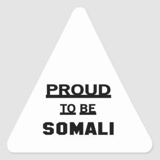 Proud to be Somali Triangle Sticker