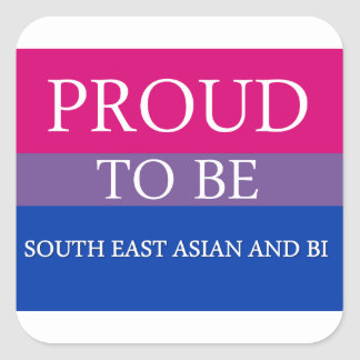 Proud To Be South East Asian and Bi Sticker