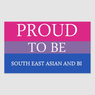 Proud To Be South East Asian and Bi Rectangular Stickers