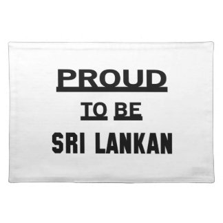 Proud to be Sri Lankan Placemat