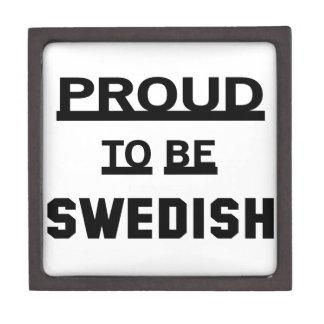 Proud to be Swedish Keepsake Box