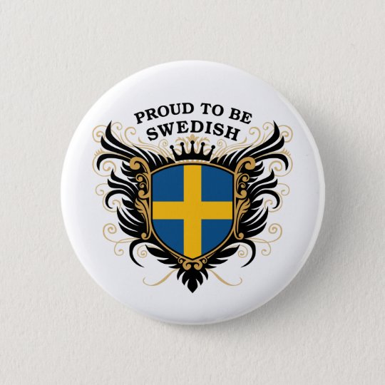 Proud to be Swedish Pinback Button