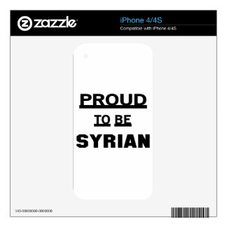Proud to be Syrian Decal For The iPhone 4S
