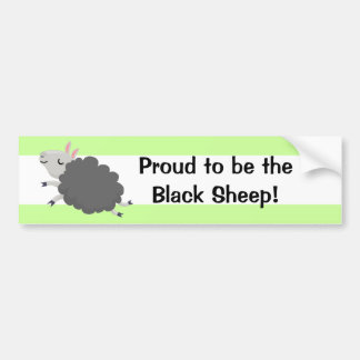 Proud to be the Black sheep! Bumper Sticker