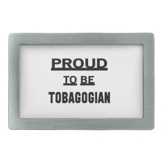 Proud to be Tobagonian Belt Buckle