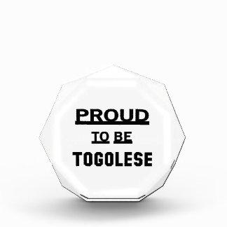 Proud to be Togolese Acrylic Award