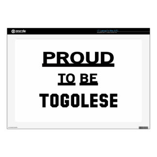 Proud to be Togolese Laptop Decals