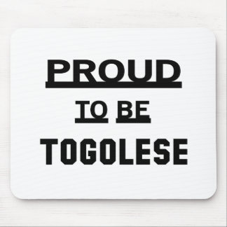 Proud to be Togolese Mouse Pad