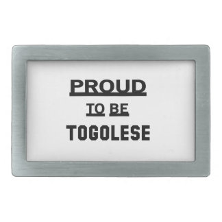 Proud to be Togolese Rectangular Belt Buckle