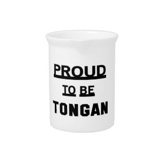 Proud to be Tongan Drink Pitcher