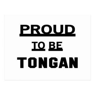 Proud to be Tongan Postcard