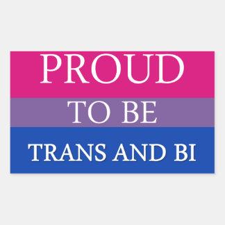 Proud to be Trans and Bi Rectangular Sticker