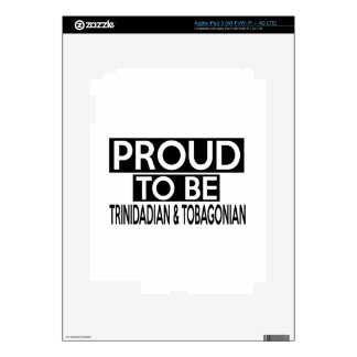 PROUD TO BE TRINIDADIAN & TOBAGONIAN DECAL FOR iPad 3