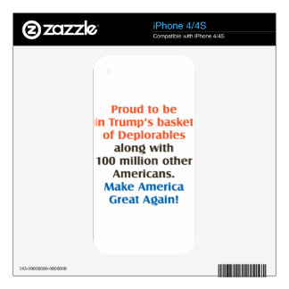 proud to be trump supporter iPhone 4 skin