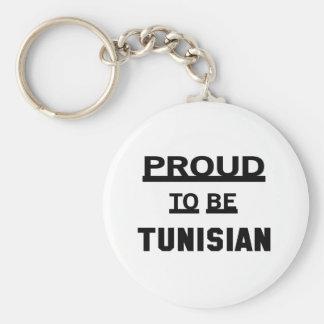 Proud to be Tunisian Keychain