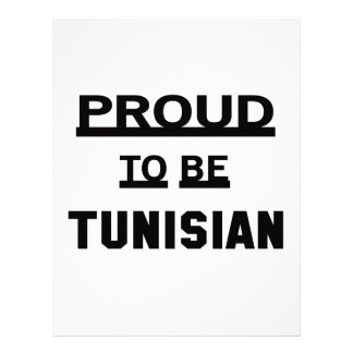 Proud to be Tunisian Letterhead