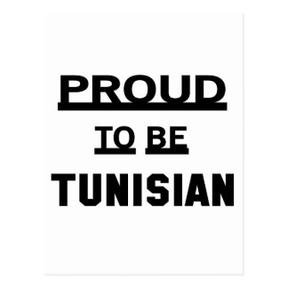 Proud to be Tunisian Postcard