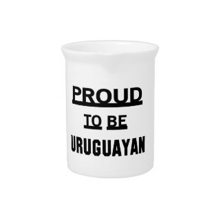 Proud to be Uruguayan Beverage Pitcher