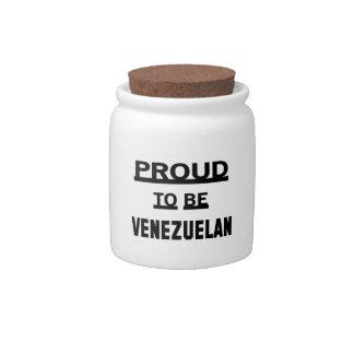 Proud to be Venezuelan Candy Dish