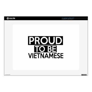 """PROUD TO BE VIETNAMESE 15"""" LAPTOP SKINS"""