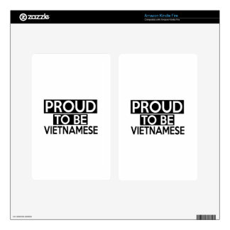 PROUD TO BE VIETNAMESE KINDLE FIRE DECAL