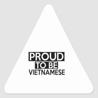 PROUD TO BE VIETNAMESE TRIANGLE STICKER