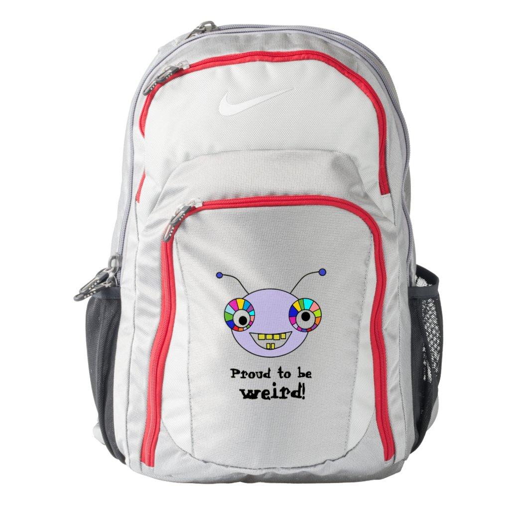 Fun Alien Face Design Nike Backpack