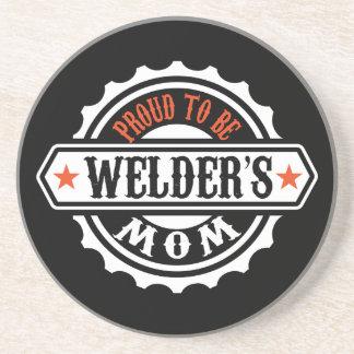 Proud To Be Welder's Mom Drink Coaster
