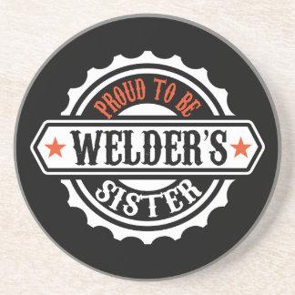 Proud To Be Welder's Sister Sandstone Coaster