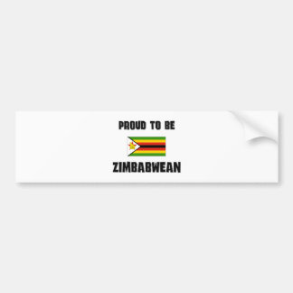 Proud To Be ZIMBABWEAN Bumper Sticker