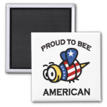 Proud to Bee American magnet