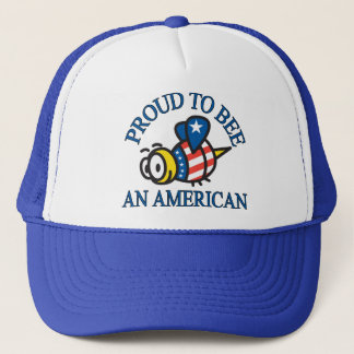 Proud to Bee and American Trucker Hat