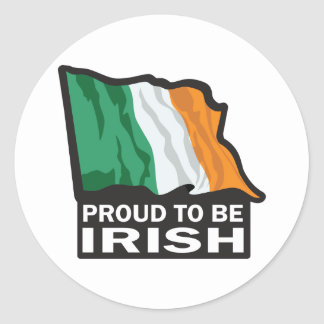 Proud-to-beIRISH Classic Round Sticker