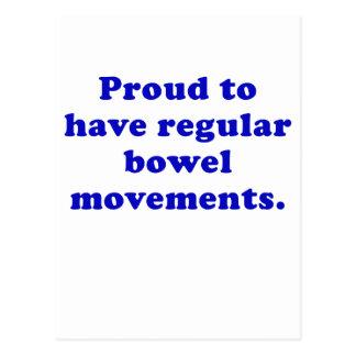 Proud to Have Regular Bowel Movements Postcard